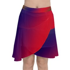 Rainbow Two Background Chiffon Wrap Front Skirt