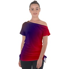 Rainbow Two Background Tie Up Tee by Jojostore
