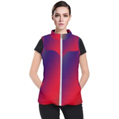 Rainbow Two Background Women s Puffer Vest