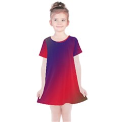 Rainbow Two Background Kids  Simple Cotton Dress by Jojostore