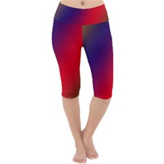 Rainbow Two Background Lightweight Velour Cropped Yoga Leggings by Jojostore