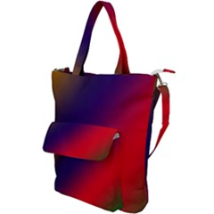 Rainbow Two Background Shoulder Tote Bag