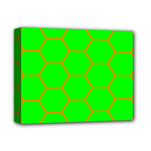 Bee Hive Texture Deluxe Canvas 14  X 11  (stretched) by Jojostore