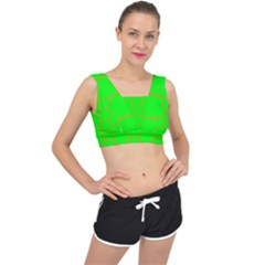 Bee Hive Texture V Back Sports Bra
