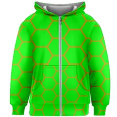 Bee Hive Texture Kids Zipper Hoodie Without Drawstring