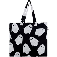 Ghost Halloween Pattern Canvas Travel Bag