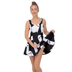 Ghost Halloween Pattern Inside Out Casual Dress