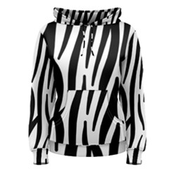 Seamless Zebra A Completely Zebra Skin Background Pattern Women s Pullover Hoodie