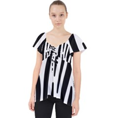 Seamless Zebra A Completely Zebra Skin Background Pattern Lace Front Dolly Top