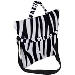 Seamless Zebra A Completely Zebra Skin Background Pattern Fold Over Handle Tote Bag