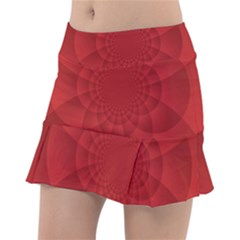 Psychedelic Art Red  Hi Tech Tennis Skirt