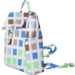 Colorful Green Background Tile Pattern Buckle Everyday Backpack