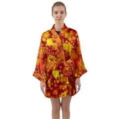 Christmas Star Advent Background Long Sleeve Kimono Robe by Sapixe