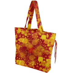 Christmas Star Advent Background Drawstring Tote Bag by Sapixe