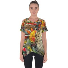 Flower Color Nature Plant Crafts Cut Out Side Drop Tee by Sapixe