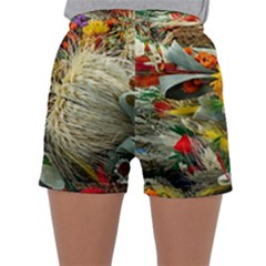 Flower Color Nature Plant Crafts Sleepwear Shorts