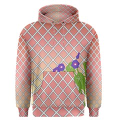 Morning Glory Argyle (blue Sky) Pattern Men s Pullover Hoodie by emilyzragz