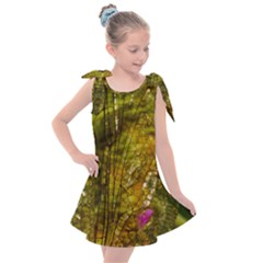 Dragonfly Dragonfly Wing Close Up Kids  Tie Up Tunic Dress
