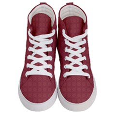 Pattern Background Texture Women s Hi Top Skate Sneakers
