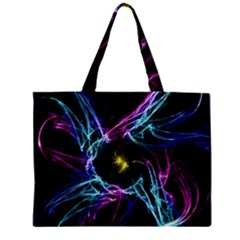 Abstract Art Color Design Lines Zipper Mini Tote Bag