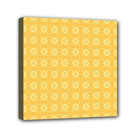 Pattern Background Texture Yellow Mini Canvas 6  X 6  (stretched)