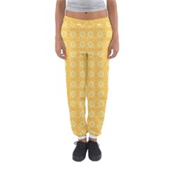 Pattern Background Texture Yellow Women s Jogger Sweatpants by Sapixe