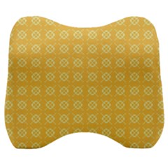 Pattern Background Texture Yellow Velour Head Support Cushion by Sapixe