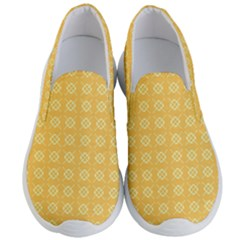 Pattern Background Texture Yellow Men s Lightweight Slip Ons by Sapixe