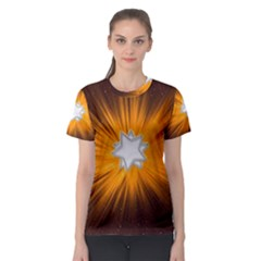Star Universe Space Galaxy Cosmos Women s Sport Mesh Tee