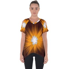 Star Universe Space Galaxy Cosmos Cut Out Side Drop Tee