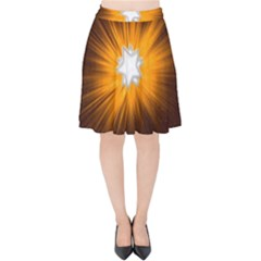 Star Universe Space Galaxy Cosmos Velvet High Waist Skirt