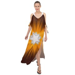 Star Universe Space Galaxy Cosmos Maxi Chiffon Cover Up Dress by Sapixe