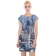 Manhattan New York City Cap Sleeve Bodycon Dress