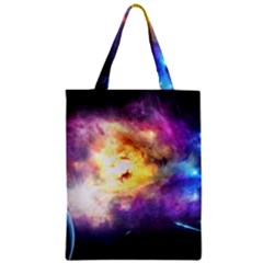 Colors Of The Planets Zipper Classic Tote Bag