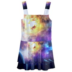 Colors Of The Planets Kids  Layered Skirt Swimsuit by burpdesignsA