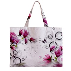 Butterflies And Flowers Medium Tote Bag