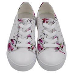 Butterflies And Flowers Kids  Low Top Canvas Sneakers