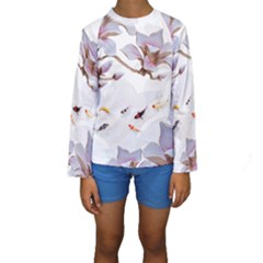 Fishes And Flowers Kids  Long Sleeve Swimwear by burpdesignsA