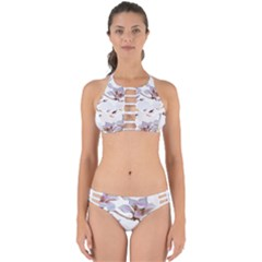 Fishes And Flowers Perfectly Cut Out Bikini Set