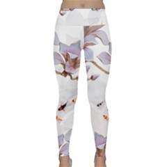 Fishes And Flowers Lightweight Velour Classic Yoga Leggings