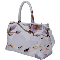 Fishes And Flowers Duffel Travel Bag by burpdesignsA
