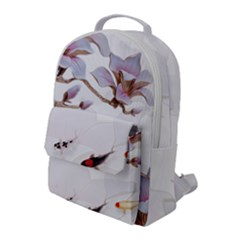 Fishes And Flowers Flap Pocket Backpack (large) by burpdesignsA