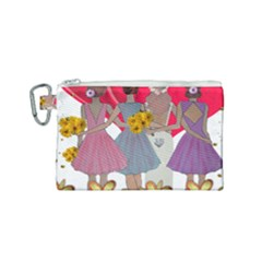 Girl Power Canvas Cosmetic Bag (small) by burpdesignsA