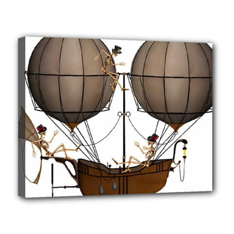 Steampunk Flyer Canvas 14  X 11  (stretched)