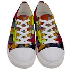 Abstract Vibrant Colour Women s Low Top Canvas Sneakers