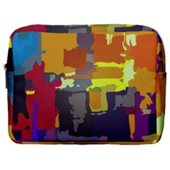 Abstract Vibrant Colour Make Up Pouch (large) by Sapixe