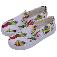 Golfers Athletes The Form Of Kids  Canvas Slip Ons by Sapixe