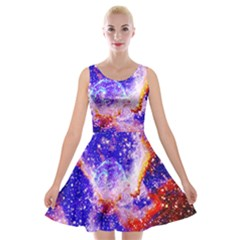 Galaxy Nebula Stars Space Universe Velvet Skater Dress by Sapixe