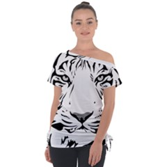 Tiger Black Ans White Tie Up Tee