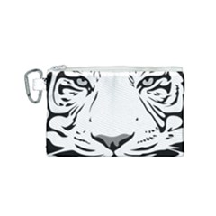 Tiger Black Ans White Canvas Cosmetic Bag (small) by alllovelyideas